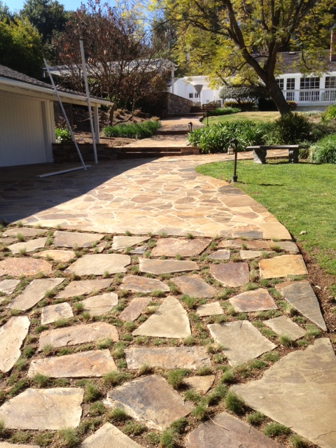 Stone And Grass Driveway